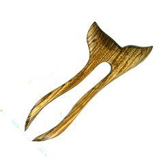 "Designs by Baerreis Hair Fork Pick Pin Shortie Finny Zebrawood 3.5"" FP handmade #DesignsbyBaerreis #ShortieFinny"