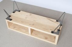 Metal Furniture, Pallet Furniture, Industrial Furniture, Furniture Design, Industrial Style, Muebles Rack Tv, Wood Box Design, Reclaimed Wood Tv Stand, Small Wood Box