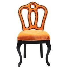 silla barroca Royal naranja | Tiendas On
