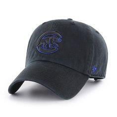 b216443f5e5e98 Chicago Cubs Black Adjustable Clean Up Hat by '47 #ChicagoCubs #Cubs  #EverybodyIN
