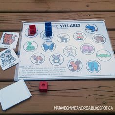 Classroom tips & tricks, resources and teaching ideas for the primary French classroom - immersion or French first-language Syllables Kindergarten, French Classroom, French Immersion, First Language, Centre, School Resources, Phonics, France, Teaching Ideas
