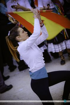 Dancing the flag at verdiales