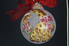 Hand Painted Giraffe Ornament  Personalized by PersonalizedPainter, $14.00