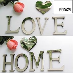 Buy Hot Acrylic Mirror DIY wall sticker stickers English letters home decoration creative modern design Wall Stickers Alphabet, 3d Sticker, Baby Room Wall Decals, 3d Mirror Wall Stickers, Alphabet Wall, Cheap Wall Stickers, Butterfly Wall Stickers, Bedroom Wall, Bedroom Ideas