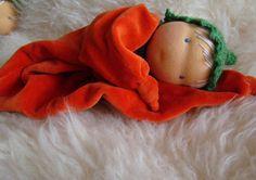 waldorf doll for baby green elf striped hat - baby rattle clown, gnome ready to ship 1st Birthday Gifts, Waldorf Toys, Teething Toys, Baby Rattle, Soft Dolls, Newborn Gifts, Cute Dolls, Baby Hats, Cuddling