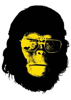 Planet of the Apes Roddy McDowall Artwork Bd Comics, Planet Of The Apes, Arte Pop, Cultura Pop, Cool Posters, Sci Fi Art, Mellow Yellow, Graphic Design Illustration, Artwork Design