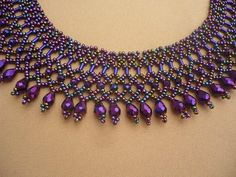 I used czech glass seed beads rondell and teardrop crystal beads for this necklace. Also used purple hematite gemstone tube beads The length of the necklace with clasp is 43 cm Beaded Statement Necklace, Seed Bead Necklace, Seed Bead Jewelry, Seed Beads, Beaded Jewelry, Beaded Necklaces, Beaded Collar, Collar Necklace, Crystal Choker