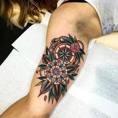 Done by Kirk Jones @kirk_jones_tattoo #goodlucktattoomelbourne #kirkjonestattoo Mandala Tattoo Sleeve Women, African Sleeve Tattoo, Sleeve Tattoos For Women, Luck Tattoo, I Tattoo, Cool Tattoos, Tatoos, Kirk Jones, Filigree Tattoo