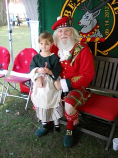 She says this is the real Santa because he wears a kilt.