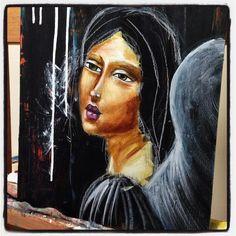 Some progress on this one. Inspired by Leonardo da Vinci.  #mixedmedia #artist #londonartist #artoninstagram #instaartist #irisimpressionsart #beabitmoreyou