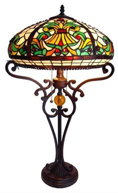Domed Victorian Tiffany Table Lamp