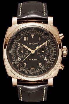 aee1b54fda1 Panerai RADIOMIR 1940 CHRONOGRAPH ORO ROSSO  DestinationMars Gents Watches
