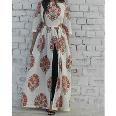 Designer kurti top with block print. Floral printed kurti for women in soft cotton fabric so that the you can survive the summers in style! Designer kurti at dvibgyor.com #longkurta #kurta #designer #kurti #floral #cotton #summerwear