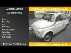 Auto Cicognara, auto usate Milano. AUTO STORICHE : Autobianchi 500 giardiniera 12/1969 KM. 120.000 € 7.900,00 http://www.autocicognara.it/ita13/13_scheda.php?ID=4106