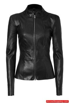 100/% New Genuine Leather Lambskin Women Biker Motorcycle Jacket Ladies LFWN219