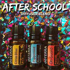 Throw this combo in your diffuser after school! CITRUS BLISS promotes a positive, happy mood, while PEPPERMINT keeps you alert and focused.…