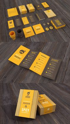 CUTE. I love the little man because he looks like a chickpea!   - Restaurant Branding Stationery
