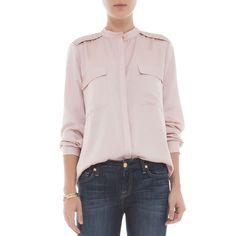 Camisa ombro trançado rosa