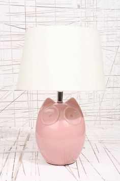 Hector the Owl Pink Lamp UK Plug - Urban Outfitters