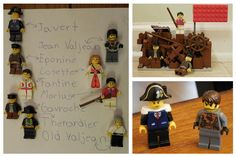 Lego Les Miserables characters, and The Barricade!  Created by Anthony Reason Mills.   Age 9.  #theatre #lesmis #musicals www.lesmis.com
