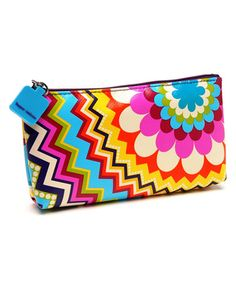 This Blue Mosaic Cosmetic Purse by Tepper Jackson is perfect! #zulilyfinds