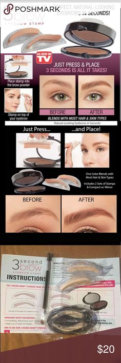 Brand New 3 Second Brow Stamp Kit