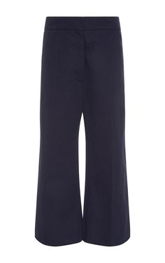 MARNI Cotton Linen Flared Cropped Trousers. #marni #cloth #trousers