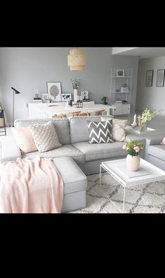 57 inspiring apartment living room decorating ideas 49 ⋆ All About Home Decor Living Room Grey, Home Living Room, Apartment Living, Interior Design Living Room, Living Room Designs, Living Room Decor, Scandi Living Room, Living Room Goals, Decor Room