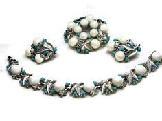 Vintage Turquoise Pearl Alaskan Summer Parure by EclecticVintager, $70.00
