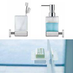 #Duravit nuovi accessori quadrati completano il concetto generale per il bagno.