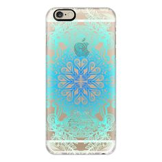 iPhone 6 Plus/6/5/5s/5c Case - Vintage Fancy Lace in Ocean Blues (59 NZD) ❤ liked on Polyvore featuring accessories, tech accessories, phone cases, technology, blue, cases, iphone case, vintage iphone case, iphone cases and blue iphone case