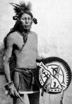 'Bighead' - Northern Cheyenne with ceremonial drum.