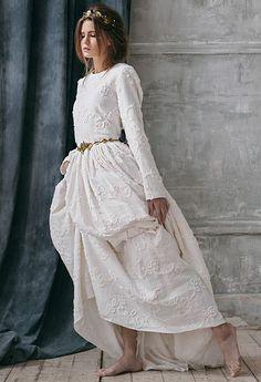 Rabia / Rustic wedding dress-long sleeve wedding dress with sleeve country Alternative-wedding dress boho wedding dress bohemian wedding:. Boho Wedding Dress Bohemian, Bohemian Wedding Dresses, Long Wedding Dresses, Boho Dress, Wedding Gowns, Bohemian Fall, Rustic Dresses, Country Dresses, Modest Wedding