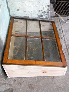 Cold Frame - Greenhouse window box....and I think I have a spot by the back door...