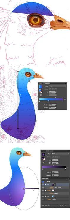 Create a Vibrant Peacock in Adobe Illustrator - Tuts+ Design & Illustration Tuto. - Create a Vibrant Peacock in Adobe Illustrator – Tuts+ Design & Illustration Tutorial - Graphic Design Company, Web Design, Graphic Design Tutorials, Graphic Design Inspiration, Art Tutorials, Font Design, Vector Design, Design Ideas, Illustrator Ai