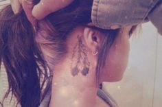 Behind the Ear Feather Tattoo. I absolutely adore this!!!