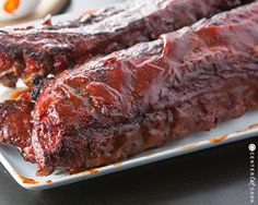 Grilled BBQ Ribs - Fall of the bone barbecue ribs cooked on the grill then smothered in saucy tangy BBQ Sauce! Who kne - Grilled Bbq Ribs, Barbecue Ribs, Ribs On Grill, Cooking Meme, Cooking On The Grill, Cooking Ribs, Rib Recipes, Grilling Recipes, Cooking Recipes