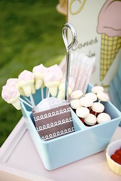 Vintage ice cream party via www.karaspartyideas.com