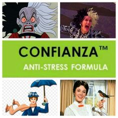 Most of us Mom's start the day as Mary Poppins and end the day as Cruella de Vil... but thanks to It Works Confianza... when Mrs de Vil makes her appearance take 2 Confianza and return to the lovely Mrs. Poppins!!!! Want more information please check out my website Getfitwithbrooke.com