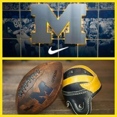 Michigan Football Helmet, Michigan Gear, U Of M Football, Colleges In Michigan, Michigan Athletics, Michigan Go Blue, College Football Teams, University Of Michigan, Football Helmets