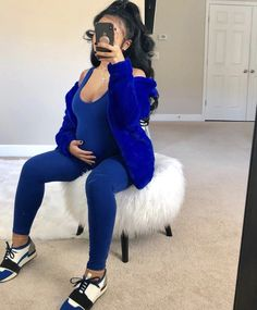 Cute Maternity Outfits, Stylish Maternity, Maternity Pictures, Maternity Fashion, Cute Outfits, Maternity Clothing, Maternity Style, Pregnant Black Girl, Pretty Pregnant