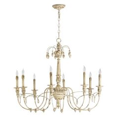 Salento Persian White Eight-Light Chandelier