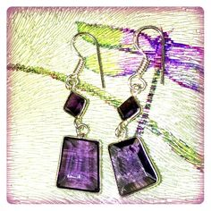 Spotted while shopping on Poshmark:  PURPLE & SILVER EARRINGS     ✨NWOT✨! #poshmark #fashion #shopping #style #Jewelry