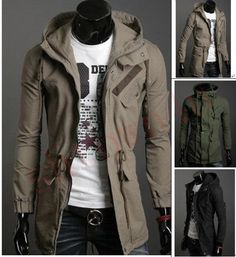 Fashion classic Korean men Hooded jacket casual jacket ( 3 color 4 size )