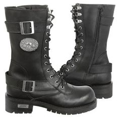 Men's Black High Performance Motorcycle Boots