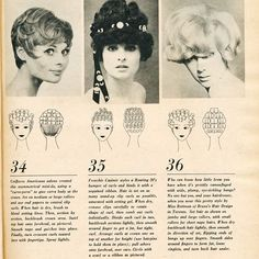 Vintage hairstyle with roller setting pattern. Vintage Short Hair, Vintage Updo, Vintage Hairstyles, Vintage Dress, Roller Set, Hair Roller, Hair Chart, 1930s Hair, Hair Patterns