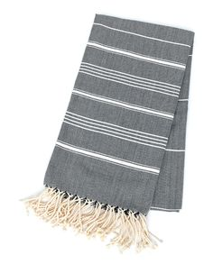The Michelle - Charcoal — Pamuk & Co. Turkish Towels, Bath Decor, Modern Design, Charcoal, Outdoor Blanket, Cotton, Collection, Contemporary Design