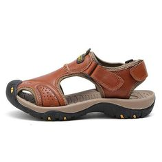 1e334588f91a VESONAL Brand Genuine Leather Summer Soft Male Sandals Shoes For Men  Breathable Light Beach Casual Quality Walking Sandal 2018