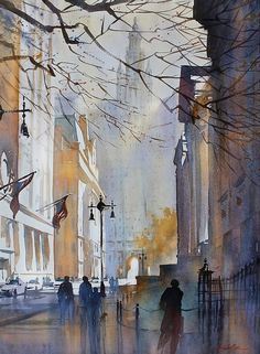 Thomas W. Schaller (1956-) - Chambers street - NYC (2014)