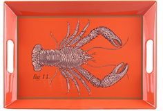 Lobster Tray on OneKingsLane.com - for turquoise ottoman